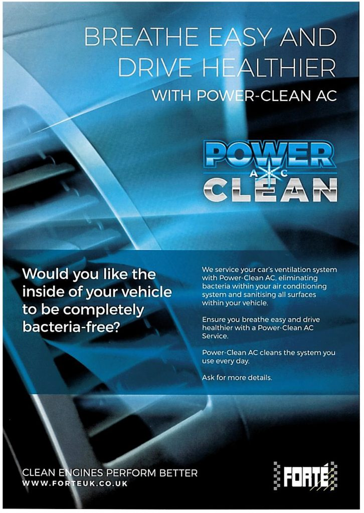 Power-Clean AC available at Arwyn's Garage